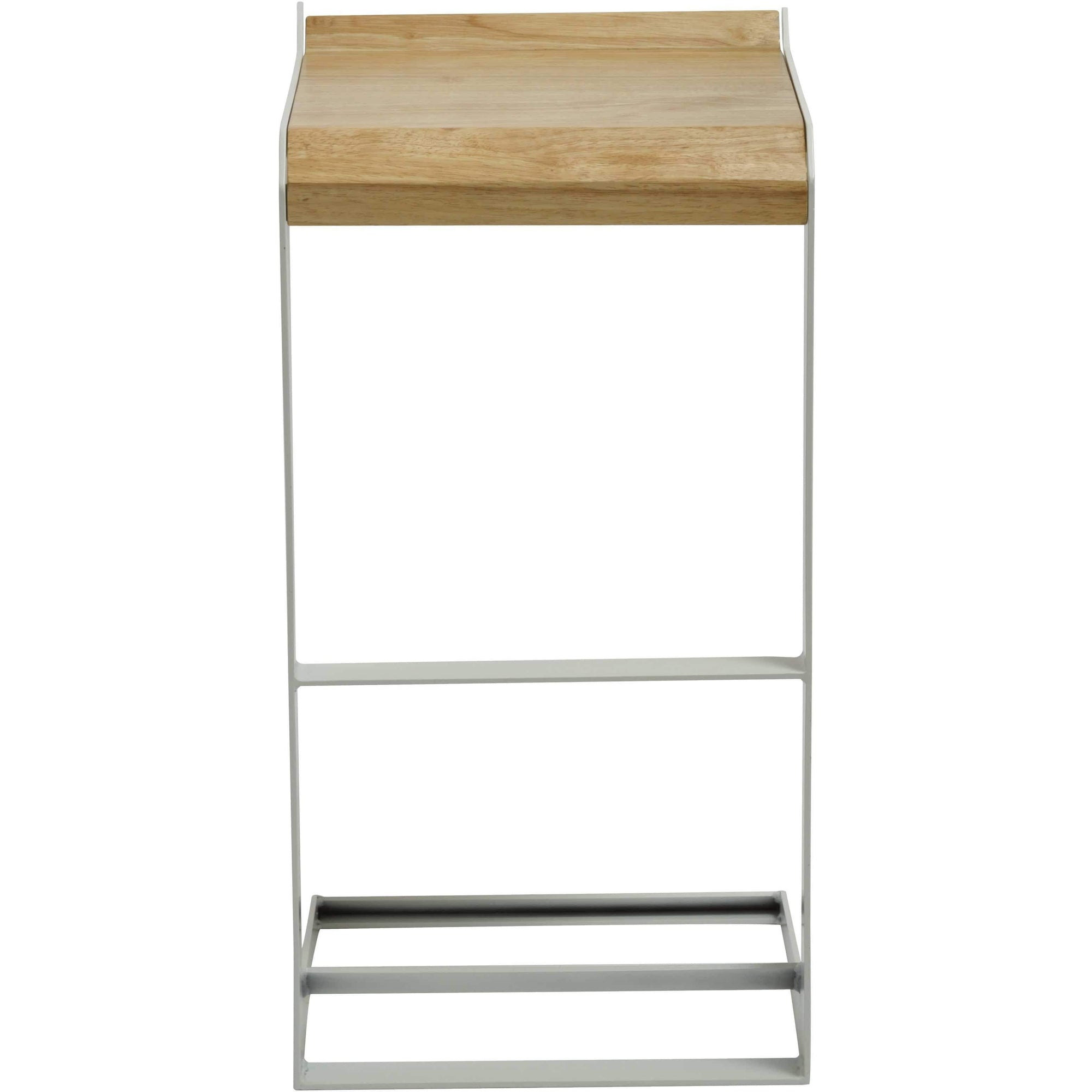Bromi Design Bar Stools White / Wood, Steel Bromi Design Logan Barstool- White By Bromi Design BF3011W