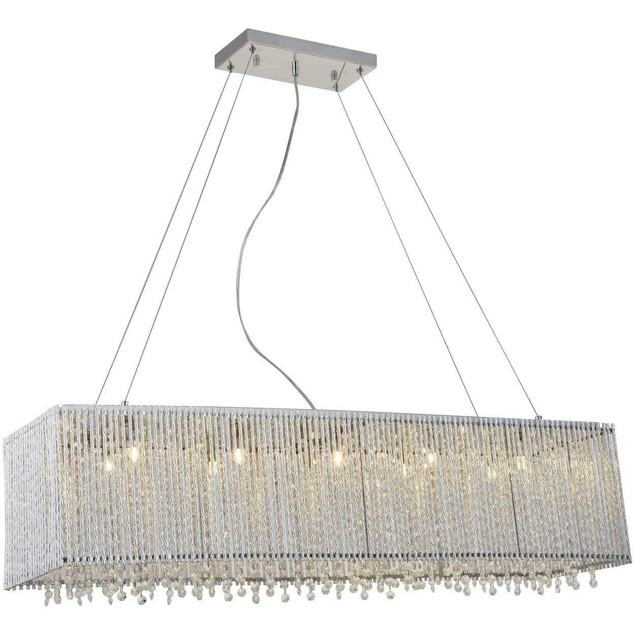 Bromi Design Chandeliers Chrome / Metal, Crystals Crystalline Modern 10 Lights Crystals Chandelier By Bromi Design BCP1113-10B