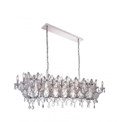 CWI Lighting Chandeliers Chrome / K9 Clear Clear Aleka 24 Light Candle Chandelier with Chrome finish by CWI Lighting 9910P58-24-601