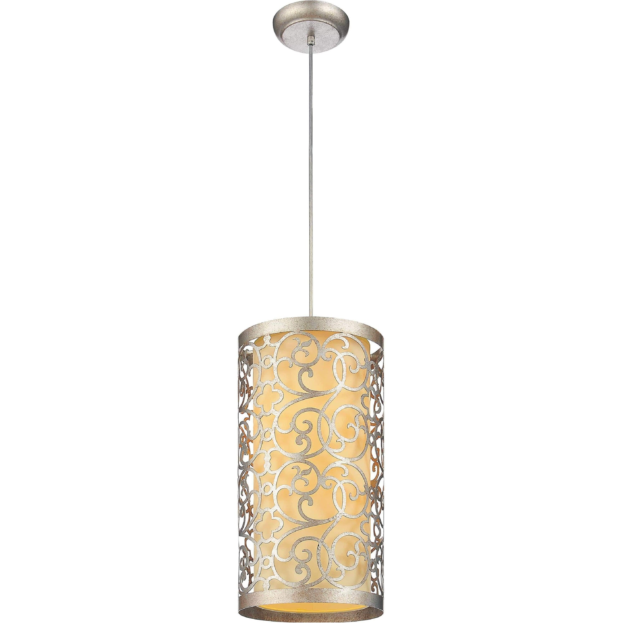 CWI Lighting Pendants Rubbed Silver Alexandra 2 Light Drum Shade Mini Pendant with Rubbed Silver finish by CWI Lighting 9832P8-2-106