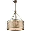 CWI Lighting Chandeliers Rubbed Silver Alexandra 5 Light Drum Shade Chandelier with Rubbed Silver finish by CWI Lighting 9832P22-6-106