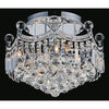 CWI Lighting Flush Mounts Chrome / K9 Clear Amanda 6 Light Flush Mount with Chrome finish by CWI Lighting 8421C16C