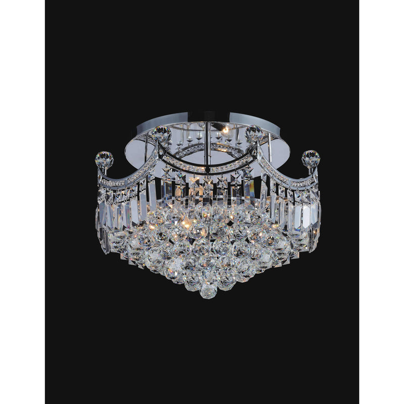 CWI Lighting Flush Mounts Chrome / K9 Clear Amanda 8 Light Flush Mount with Chrome finish by CWI Lighting 8421C20C
