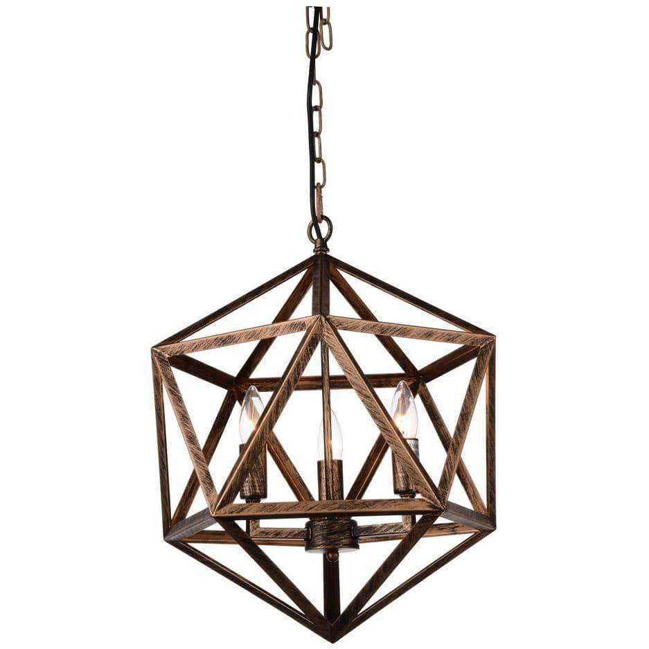 CWI Lighting Pendants Antique forged copper Amazon 3 Light Up Pendant with Antique forged copper finish by CWI Lighting 9641P17-3-128
