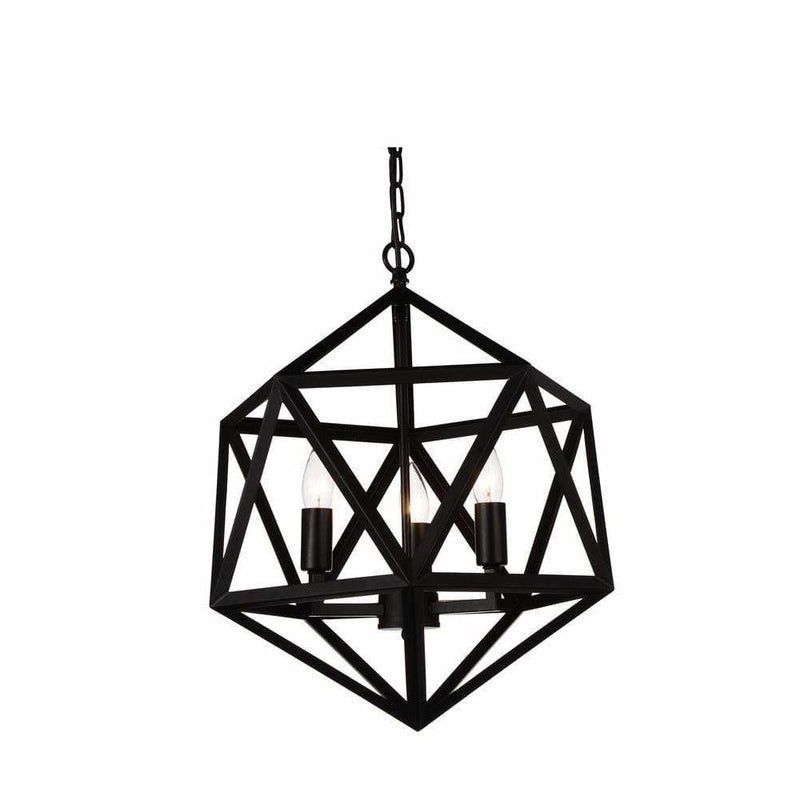 CWI Lighting Pendants Black Amazon 3 Light Up Pendant with Black finish by CWI Lighting 9641P17-3-101