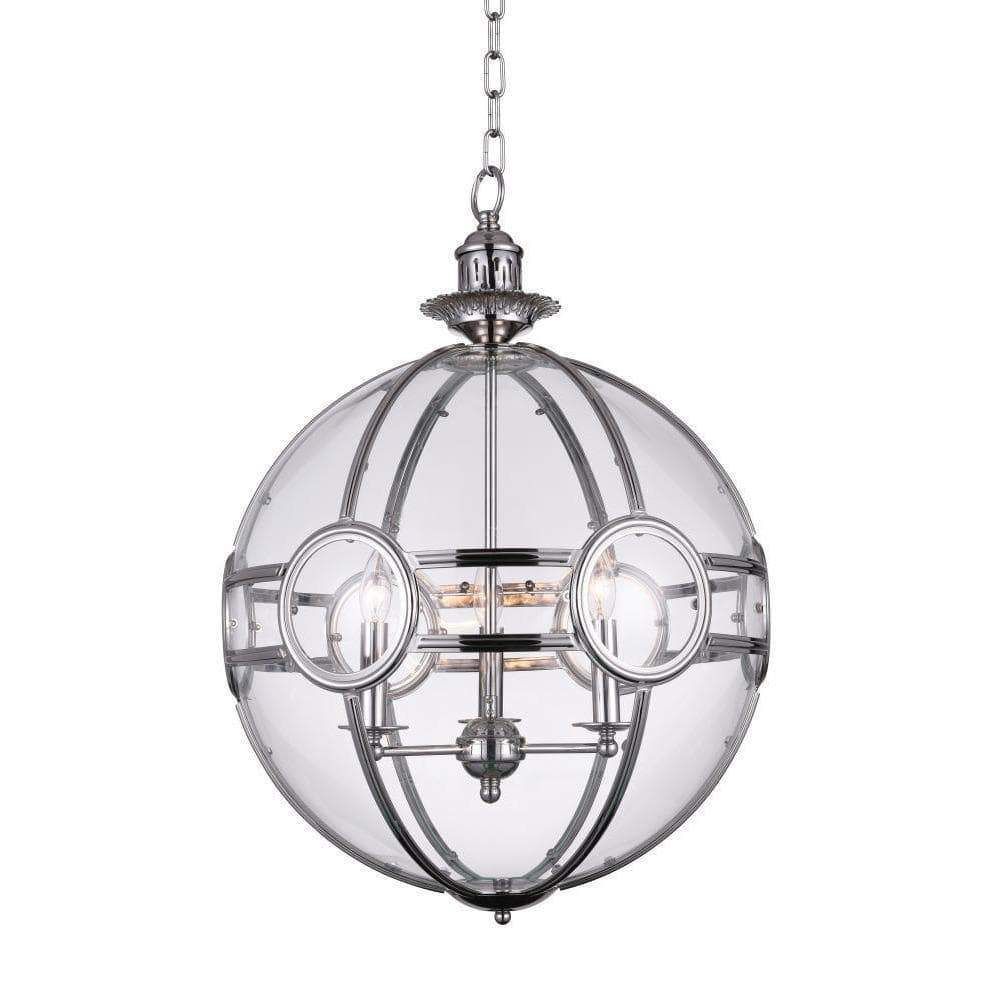 CWI Lighting Pendants Chrome Beas 3 Light Pendant with Chrome finish by CWI Lighting 9696P14-3-601