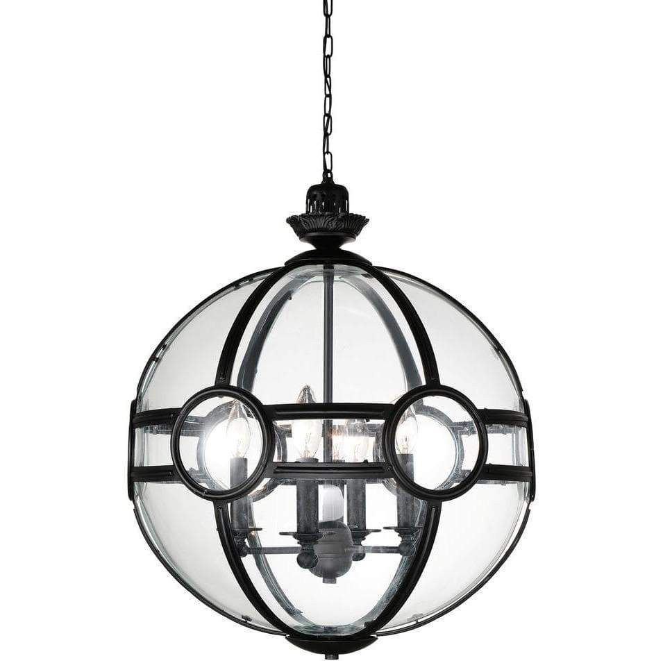 CWI Lighting Pendants Black Beas 5 Light Pendant with Black finish by CWI Lighting 9696P25-5-101