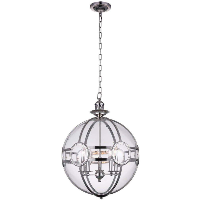 CWI Lighting Pendants Chrome Beas 5 Light Pendant with Chrome finish by CWI Lighting 9696P25-5-601