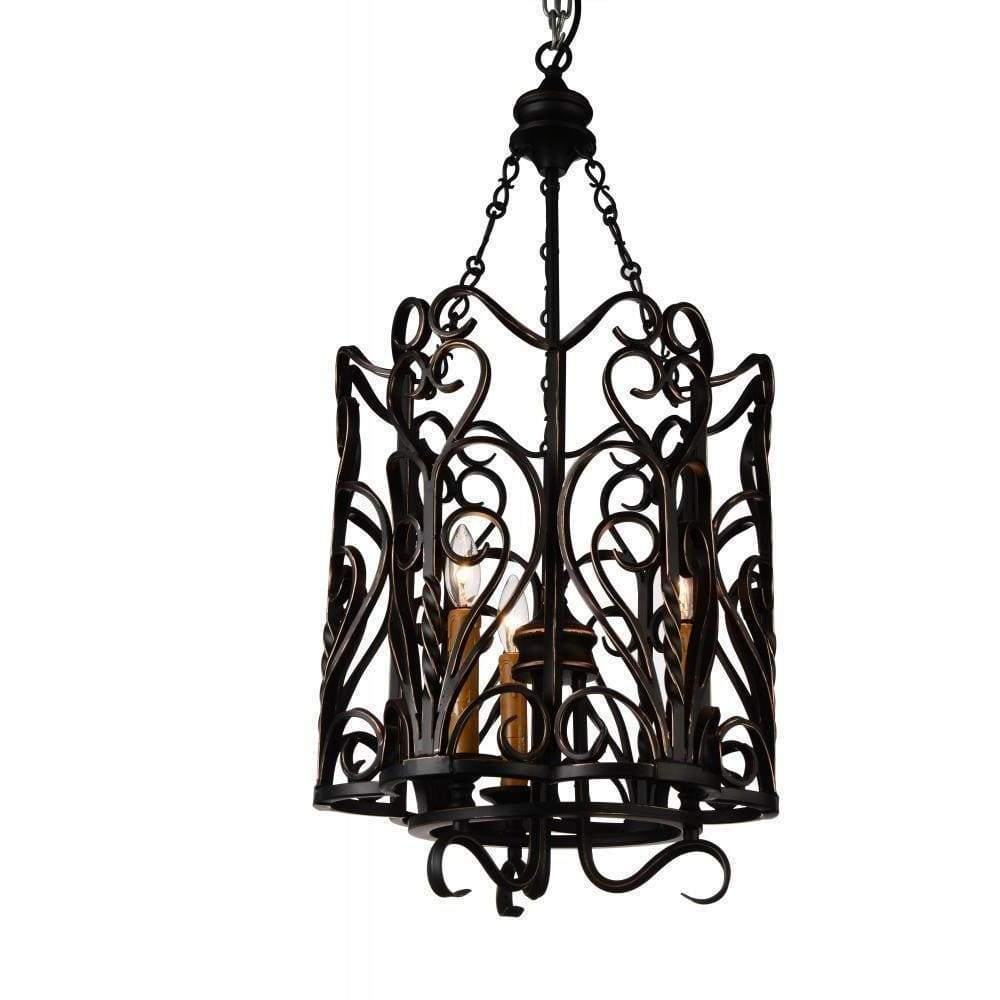 CWI Lighting Chandeliers Autumn Bronze Branch 3 Light Up Chandelier with Autumn Bronze finish by CWI Lighting 9888P16-3-122