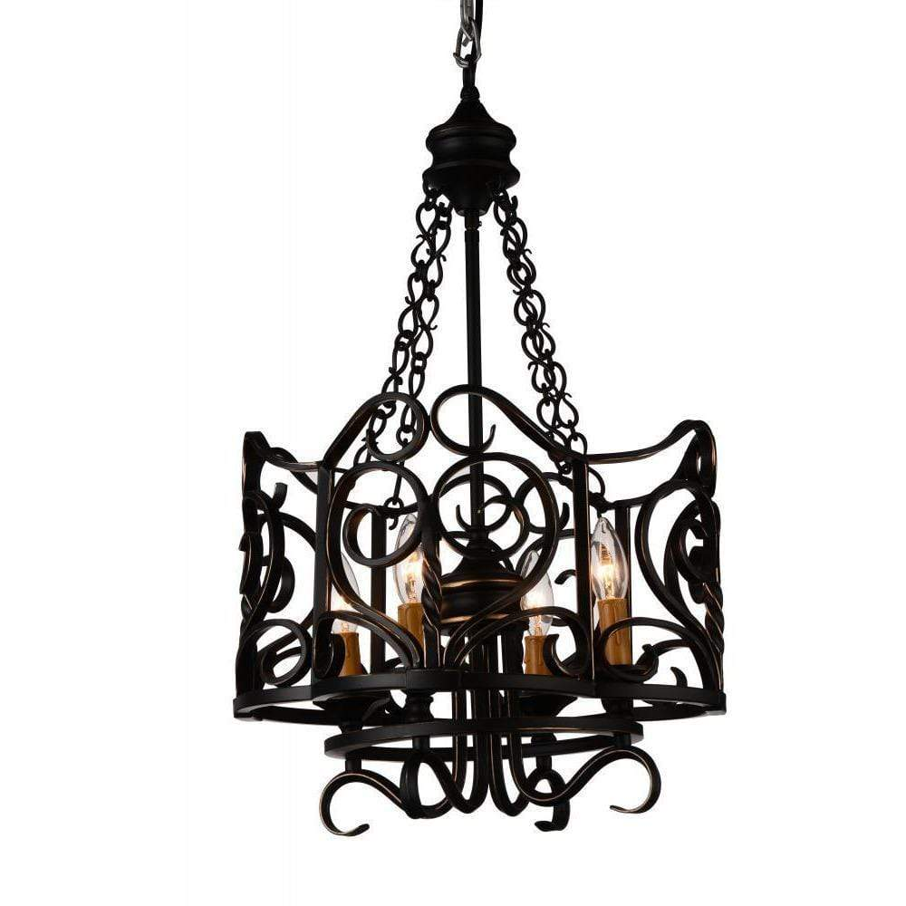 CWI Lighting Chandeliers Autumn Bronze Branch 4 Light Up Chandelier with Autumn Bronze finish by CWI Lighting 9888P16-4-122