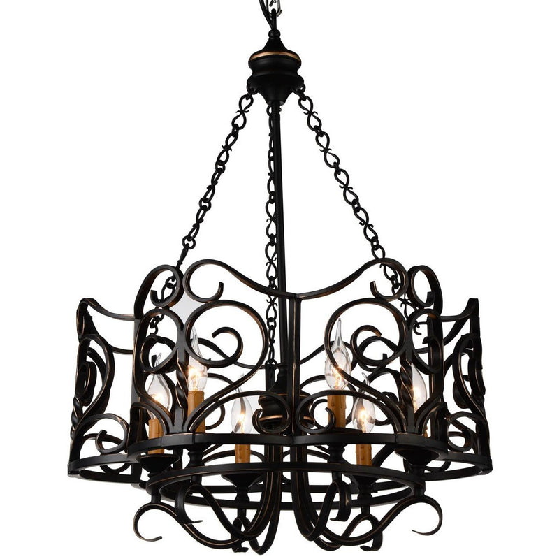 CWI Lighting Chandeliers Autumn Bronze Branch 6 Light Up Chandelier with Autumn Bronze finish by CWI Lighting 9888P23-6-122