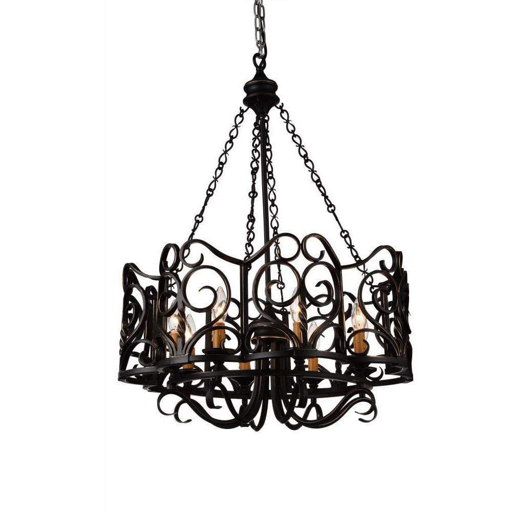 CWI Lighting Chandeliers Autumn Bronze Branch 8 Light Up Chandelier with Autumn Bronze finish by CWI Lighting 9888P25-8-122