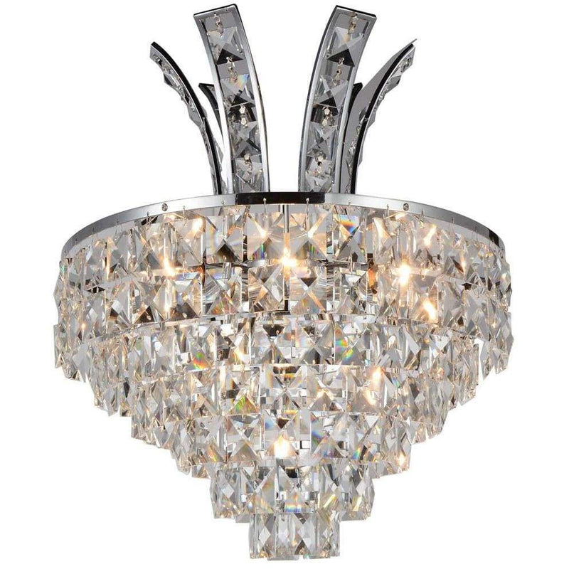 CWI Lighting Wall Sconces Chrome / K9 Clear Chique 3 Light Wall Sconce with Chrome finish by CWI Lighting 5685W12C
