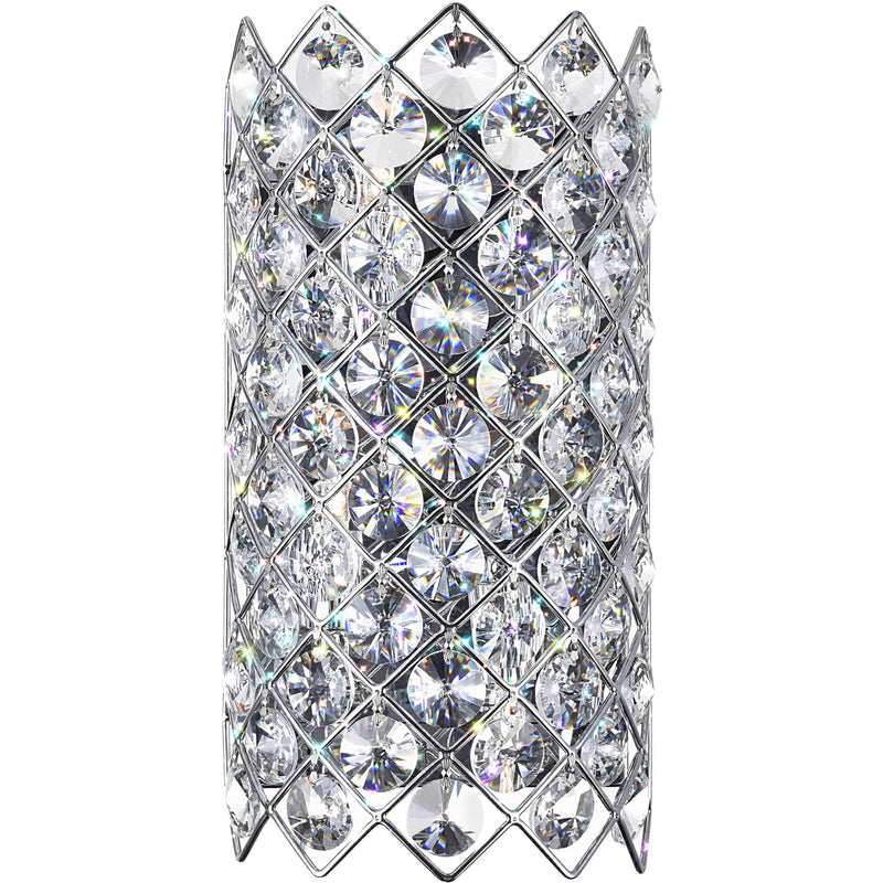 CWI Lighting Wall Sconces Chrome / K9 Clear Chique 4 Light Wall Sconce with Chrome finish by CWI Lighting 5021W7B(C)