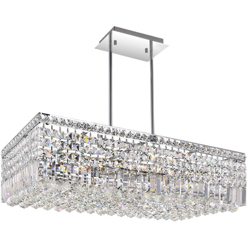 CWI Lighting Chandeliers Chrome / K9 Clear Colosseum 10 Light Down Chandelier with Chrome finish by CWI Lighting 8030P30C-RC