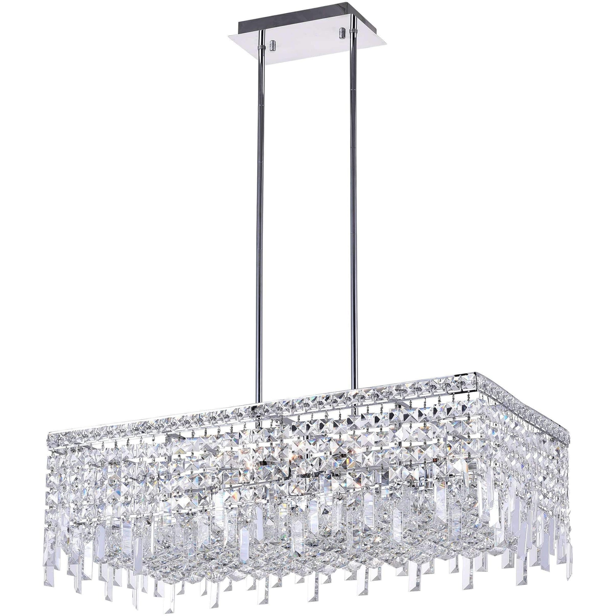 CWI Lighting Chandeliers Chrome / K9 Clear Colosseum 10 Light Down Chandelier with Chrome finish by CWI Lighting 8031P30C-RC