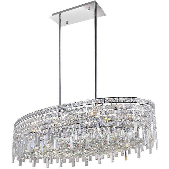 CWI Lighting Chandeliers Chrome / K9 Clear Colosseum 10 Light Down Chandelier with Chrome finish by CWI Lighting 8031P36C-O