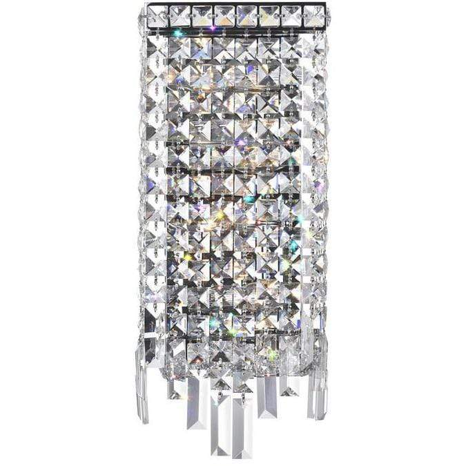 CWI Lighting Wall Sconces Chrome / K9 Clear Colosseum 4 Light Wall Sconce with Chrome finish by CWI Lighting 8031W7C