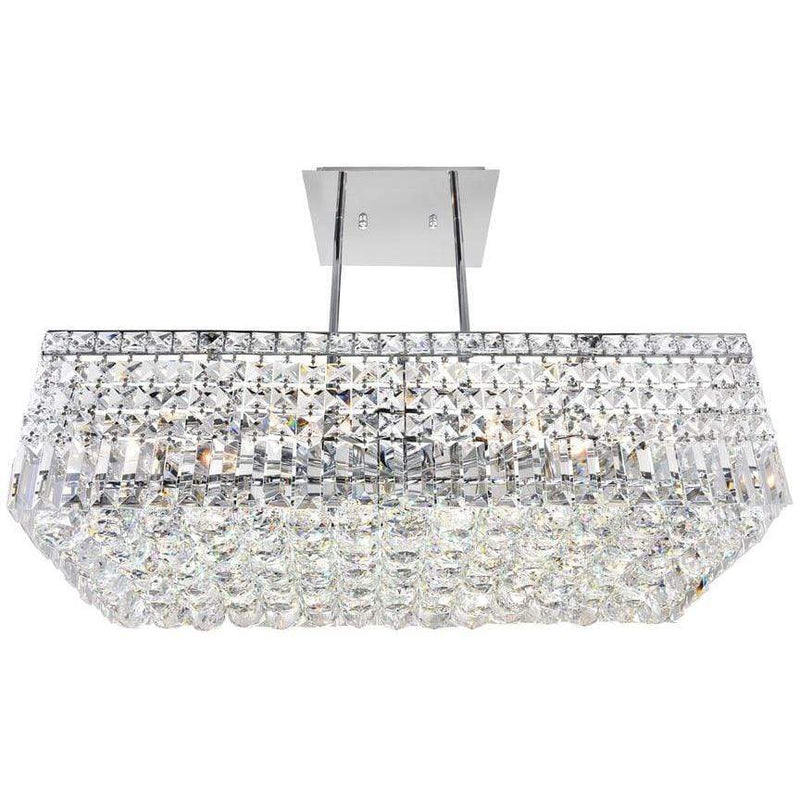 CWI Lighting Chandeliers Chrome / K9 Clear Colosseum 8 Light Down Chandelier with Chrome finish by CWI Lighting 8030P26C-RC