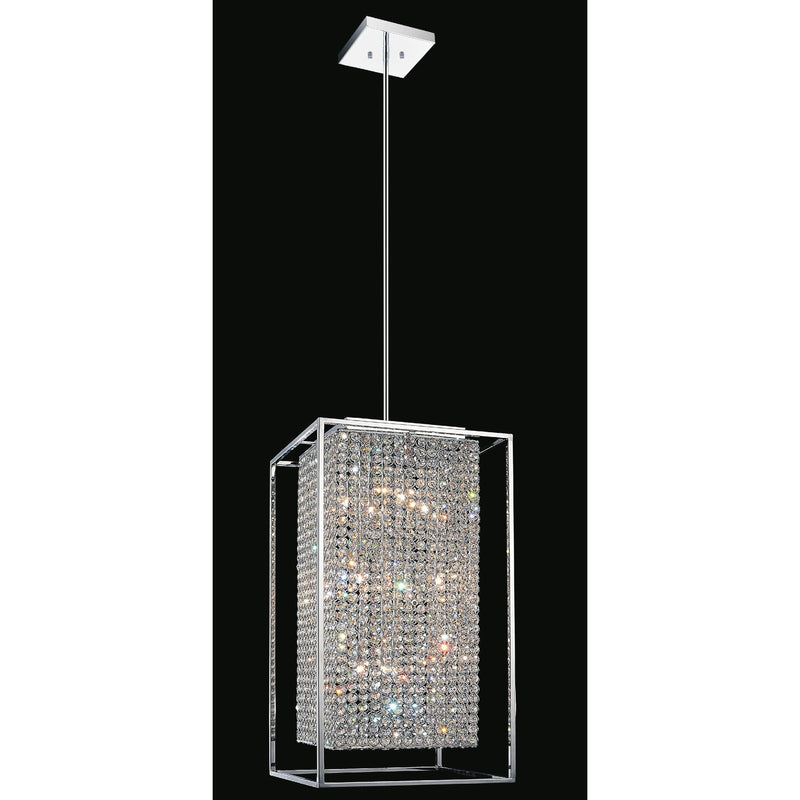 CWI Lighting Chandeliers Chrome / K9 Clear Cube 11 Light Chandelier with Chrome finish by CWI Lighting QS8381P14C-RC