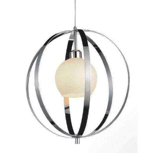 CWI Lighting Chandeliers Chrome Dahlia 1 Light Down Chandelier with Chrome finish by CWI Lighting 9801P16-1-601