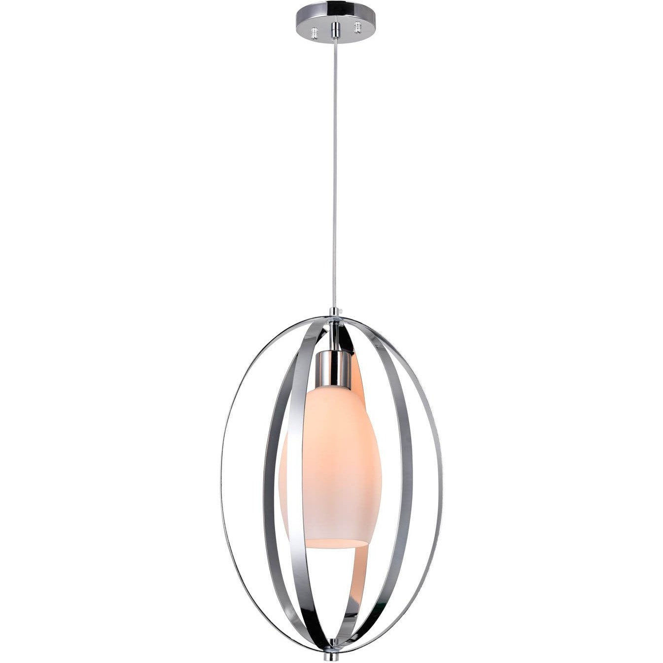 CWI Lighting Pendants Chrome Dahlia 1 Light Down Mini Pendant with Chrome finish by CWI Lighting 9801P12-1-O-601