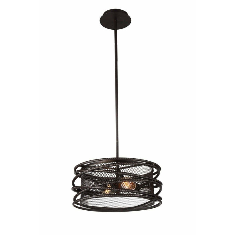 CWI Lighting Pendants Brown Darya 2 Light Pendant with Brown finish by CWI Lighting 9700P15-2-197