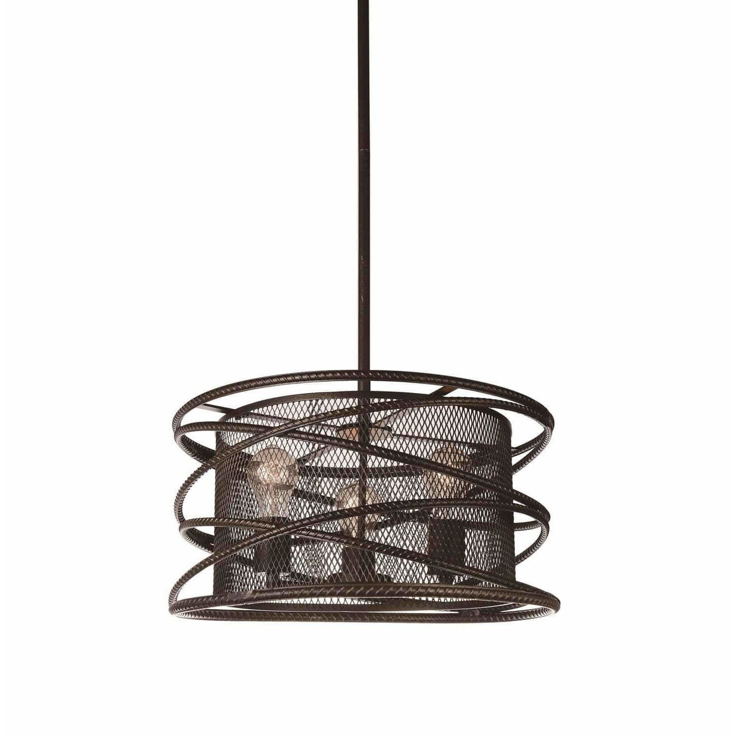 CWI Lighting Chandeliers Brown Darya 3 Light Up Chandelier with Brown finish by CWI Lighting 9700P18-3-197