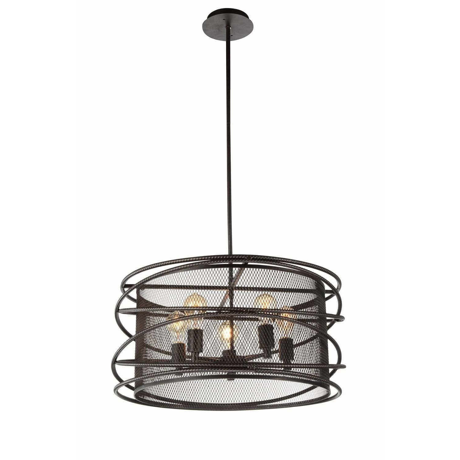 CWI Lighting Pendants Brown Darya 5 Light Up Pendant with Brown finish by CWI Lighting 9700P22-5-197
