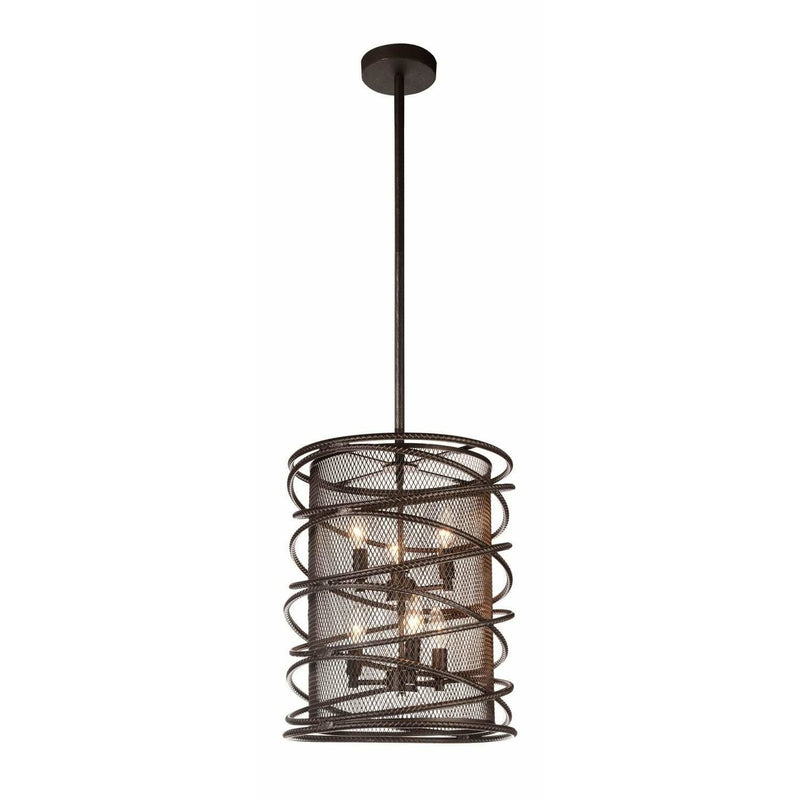 CWI Lighting Chandeliers Brown Darya 6 Light Up Chandelier with Brown finish by CWI Lighting 9700P15-6-197