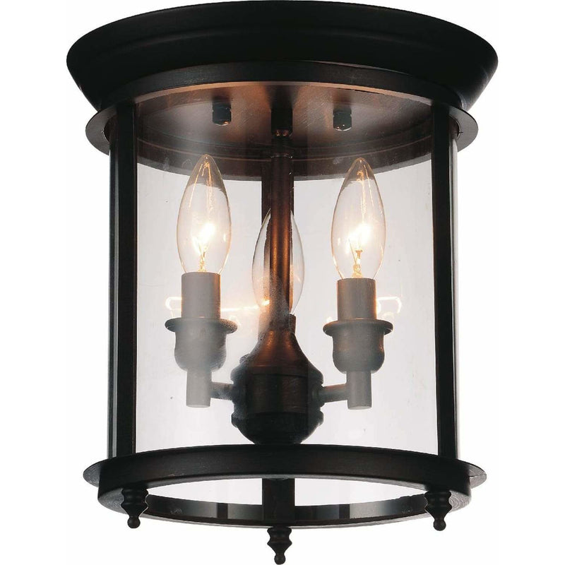 CWI Lighting Flush Mounts Oil Rubbed Bronze Desire 3 Light Cage Flush Mount with Oil Rubbed Bronze finish by CWI Lighting 9809C10-3-109
