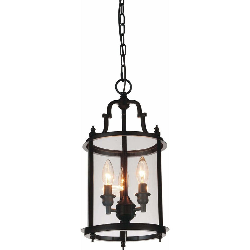 CWI Lighting Pendants Oil Rubbed Bronze Desire 3 Light Drum Shade Mini Pendant with Oil Rubbed Bronze finish by CWI Lighting 9809P9-3-109