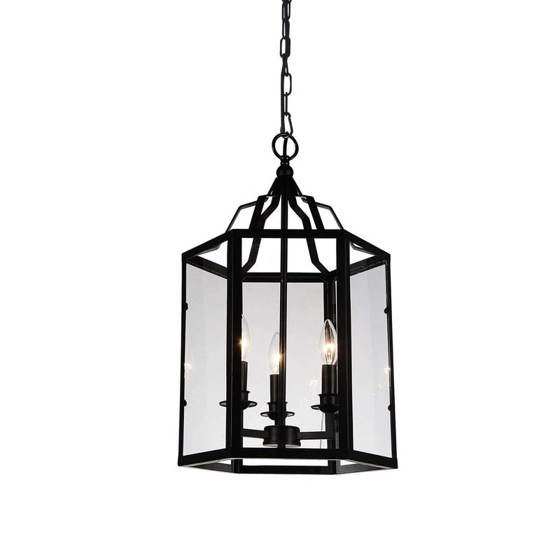 CWI Lighting Chandeliers Black Desire 3 Light Up Chandelier with Black finish by CWI Lighting 9647P14-3-101
