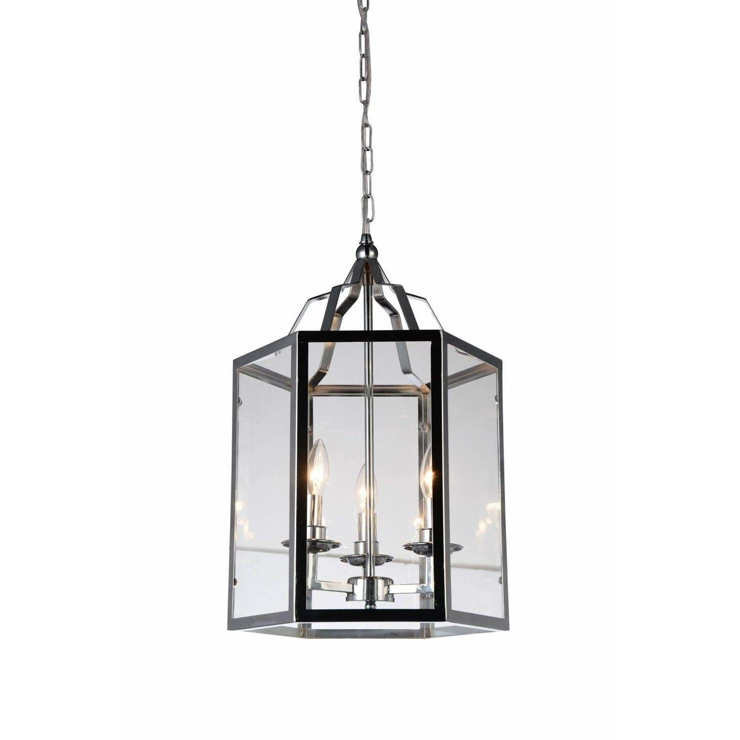 CWI Lighting Pendants Chrome / Clear Desire 3 Light Up Mini Pendant with Chrome finish by CWI Lighting 9647P14-3-601