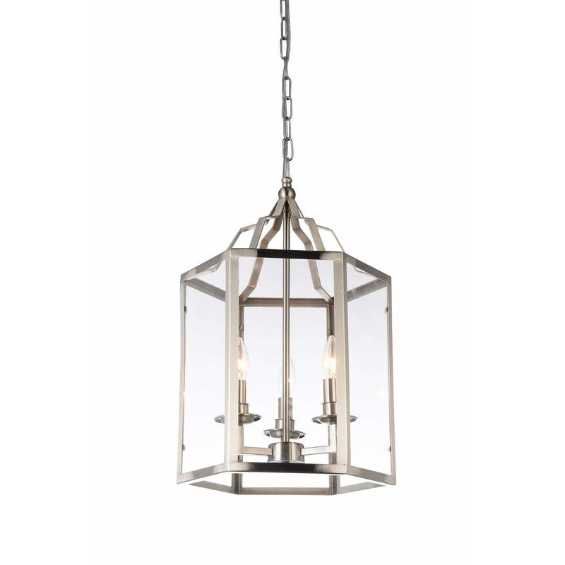 CWI Lighting Pendants Satin Nickel / Clear Desire 3 Light Up Mini Pendant with Satin Nickel finish by CWI Lighting 9647P14-3-606
