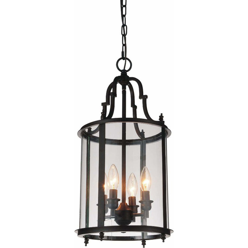 CWI Lighting Pendants Oil Rubbed Bronze Desire 4 Light Drum Shade Mini Pendant with Oil Rubbed Bronze finish by CWI Lighting 9809P11-4-109