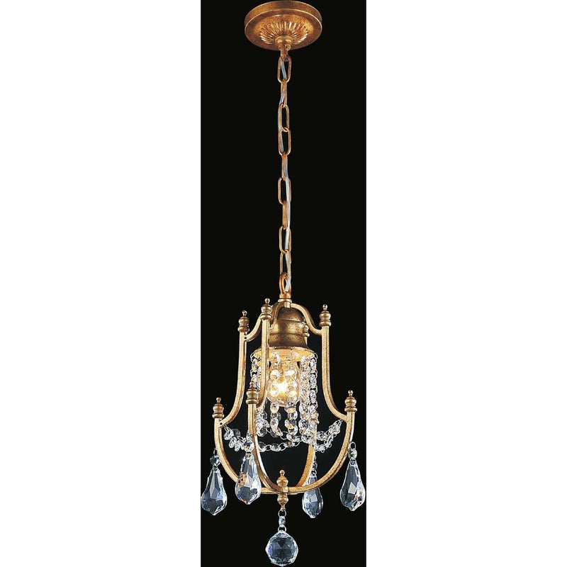 CWI Lighting Pendants Oxidized Bronze / K9 Clear Electra 1 Light Up Mini Pendant with Oxidized Bronze finish by CWI Lighting 9836P8-1-125