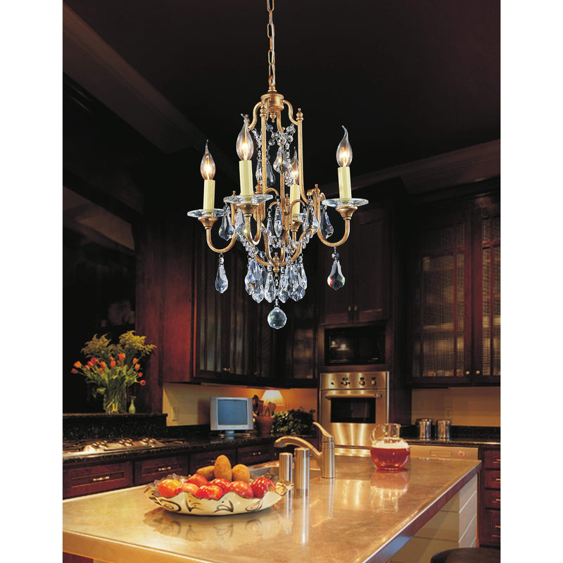 CWI Lighting Chandeliers Oxidized Bronze / K9 Clear Electra 4 Light Up Chandelier with Oxidized Bronze finish by CWI Lighting 9836P17-4-125