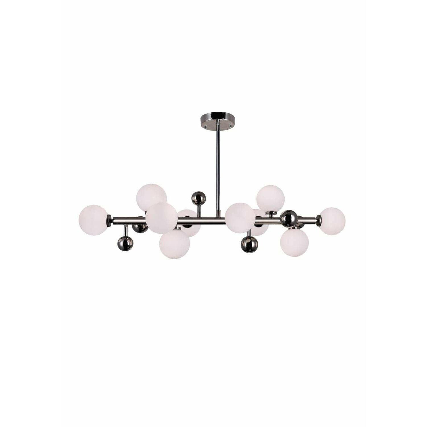 CWI Lighting Chandeliers Polished Nickel Element 10 Light Chandelier with Polished Nickel Finish by CWI Lighting 1125P36-10-613