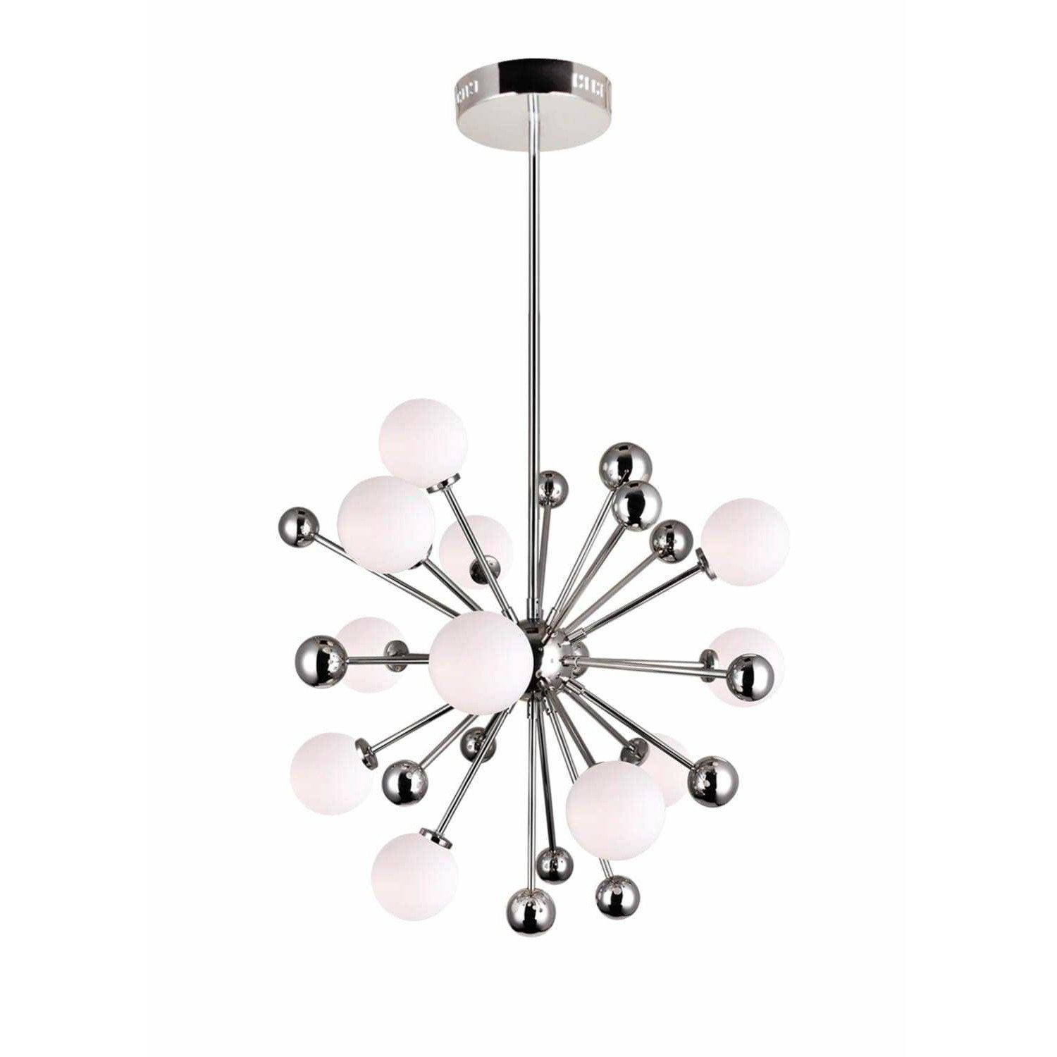 CWI Lighting Chandeliers Polished Nickel Element 11 Light Chandelier with Polished Nickel Finish by CWI Lighting 1125P24-11-613