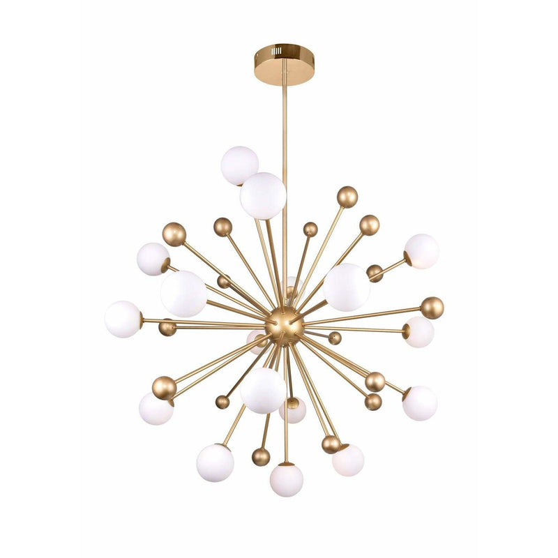 CWI Lighting Chandeliers Sun Gold Element 17 Light Chandelier with Sun Gold Finish by CWI Lighting 1125P39-17-268