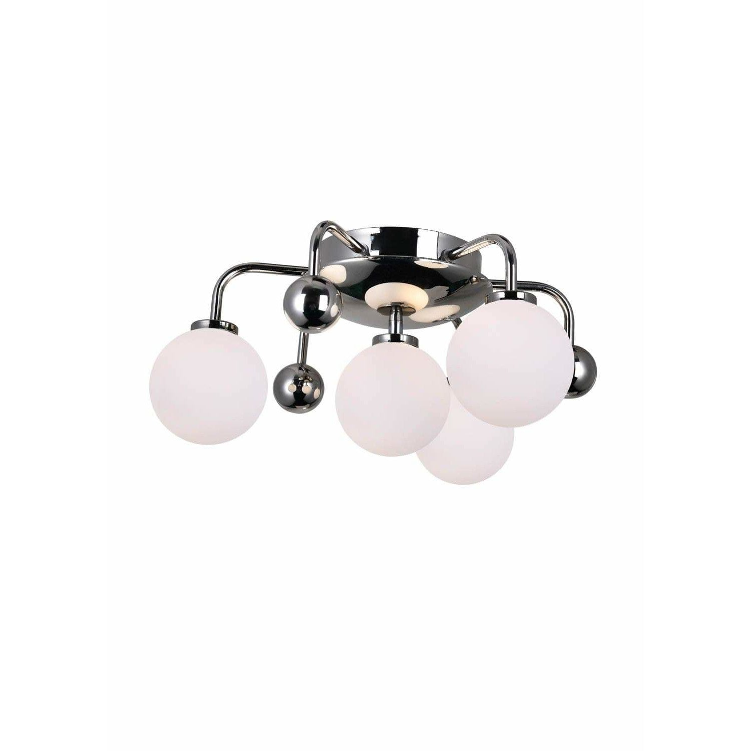 CWI Lighting Flush Mounts Polished Nickel Element 4 Light Flush Mount with Polished Nickel Finish by CWI Lighting 1125C16-4-613