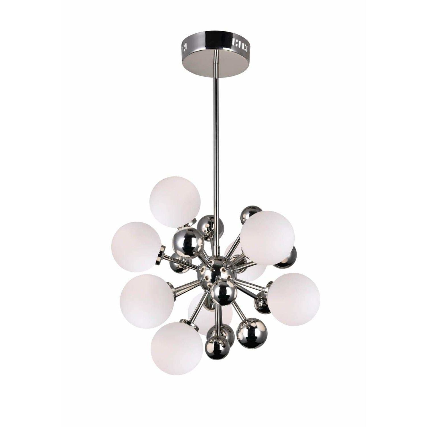 CWI Lighting Chandeliers Polished Nickel Element 8 Light Chandelier with Polished Nickel Finish by CWI Lighting 1125P16-8-613