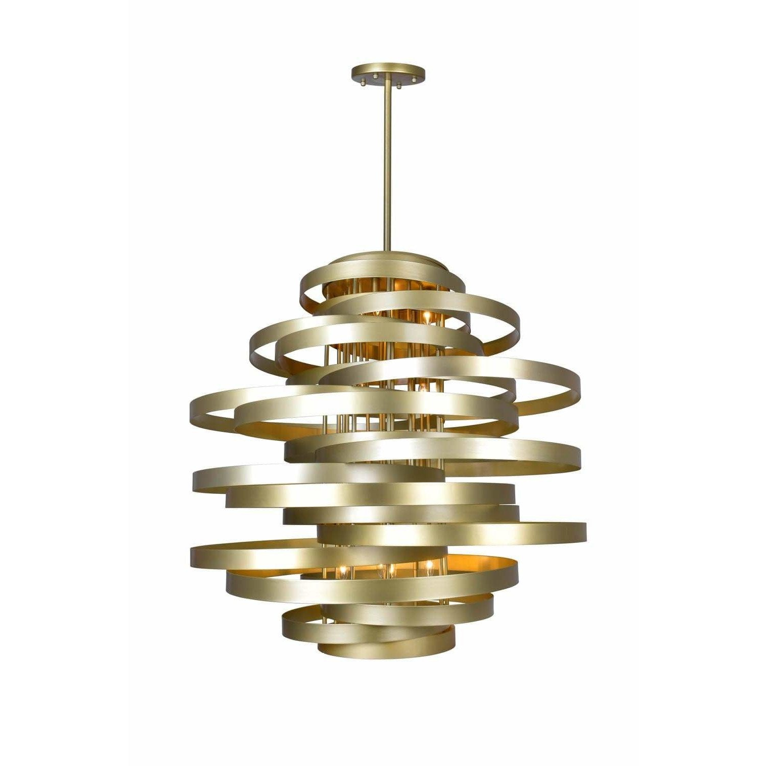 CWI Lighting Chandeliers Gold Leaf Elizabetta 16 Light Chandelier with Gold Leaf Finish by CWI Lighting 1068P45-16-620