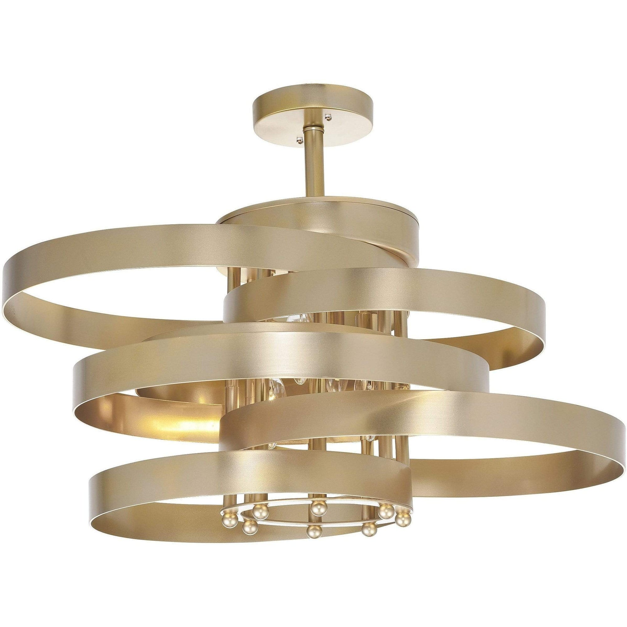 CWI Lighting Flush Mounts Gold Leaf Elizabetta 3 Light Flush Mount with Gold Leaf Finish by CWI Lighting 1068C20-3-620