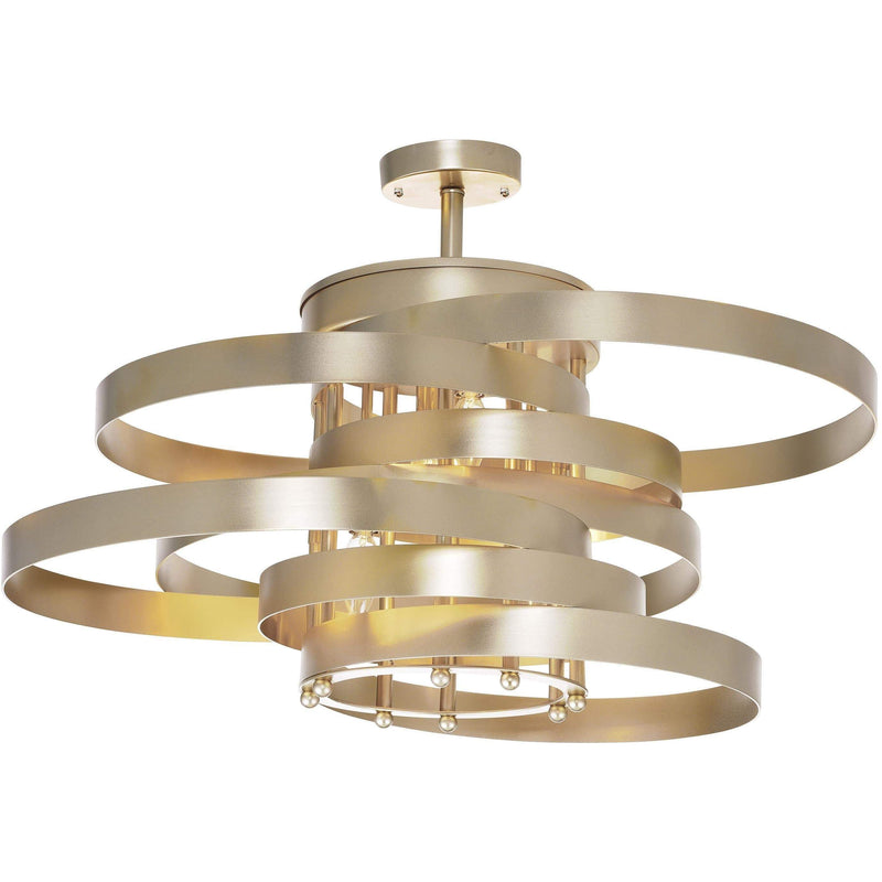 CWI Lighting Flush Mounts Gold Leaf Elizabetta 5 Light Flush Mount with Gold Leaf Finish by CWI Lighting 1068C28-5-620