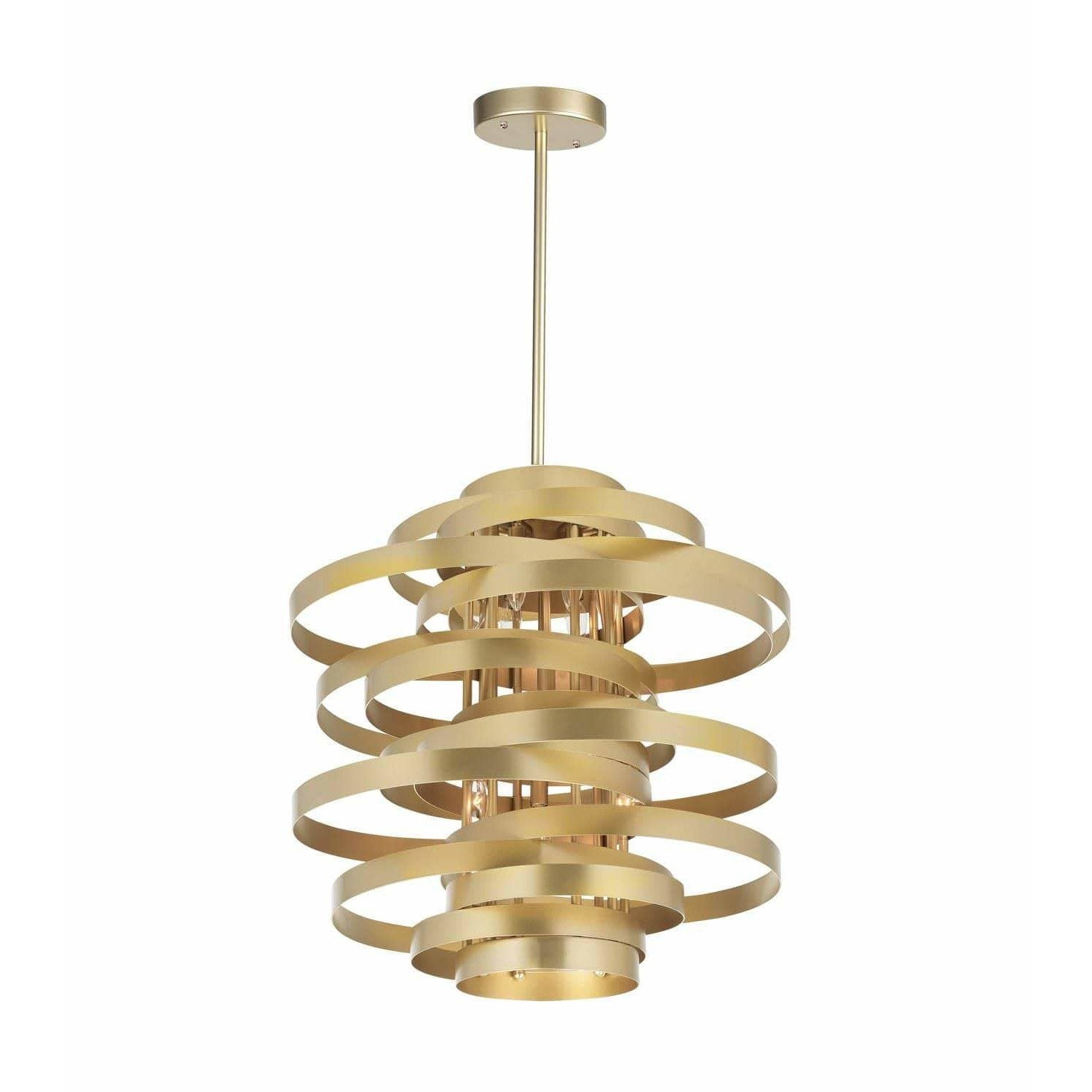CWI Lighting Chandeliers Gold Leaf Elizabetta 6 Light Chandelier with Gold Leaf Finish by CWI Lighting 1068P18-6-620