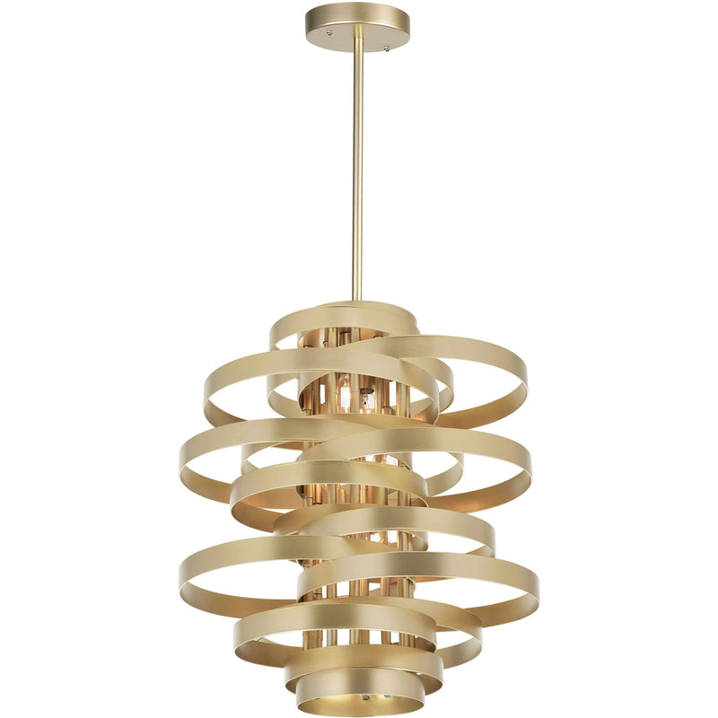 CWI Lighting Chandeliers Gold Leaf Elizabetta 7 Light Chandelier with Gold Leaf Finish by CWI Lighting 1068P28-7-620