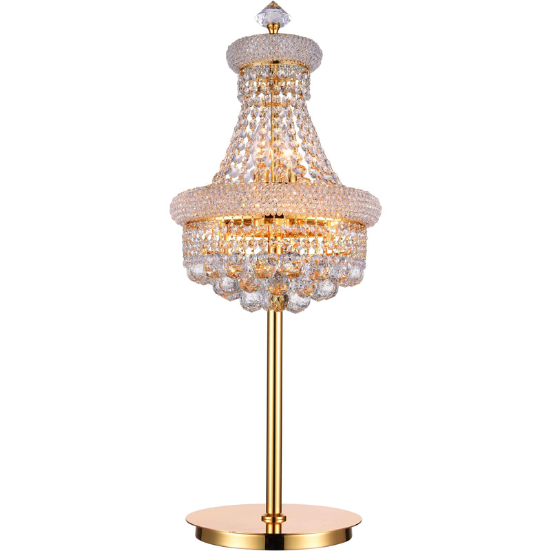 CWI Lighting Table Lamps Gold / K9 Clear Empire 6 Light Table Lamp with Gold finish by CWI Lighting 8001T14G