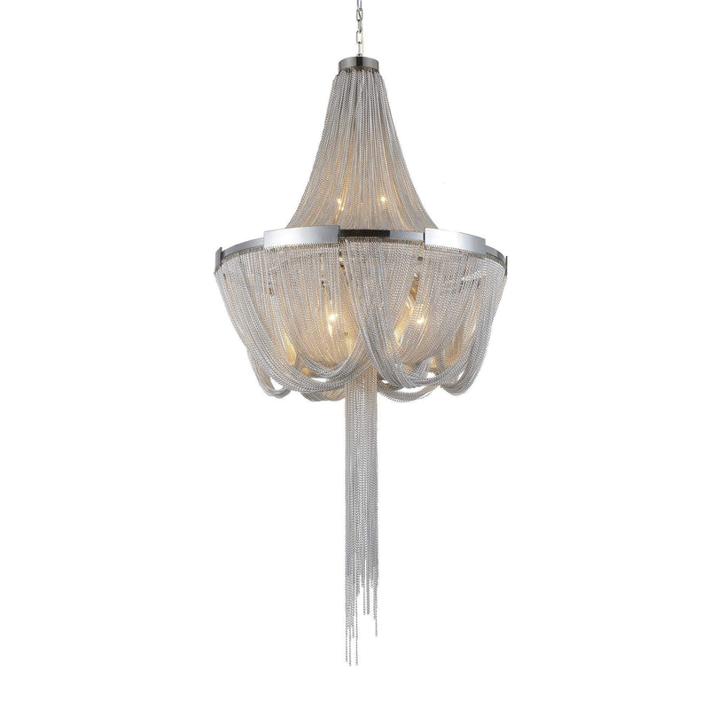 CWI Lighting Chandeliers Chrome Enchanted 6 Light Down Chandelier with Chrome finish by CWI Lighting 5653P20C